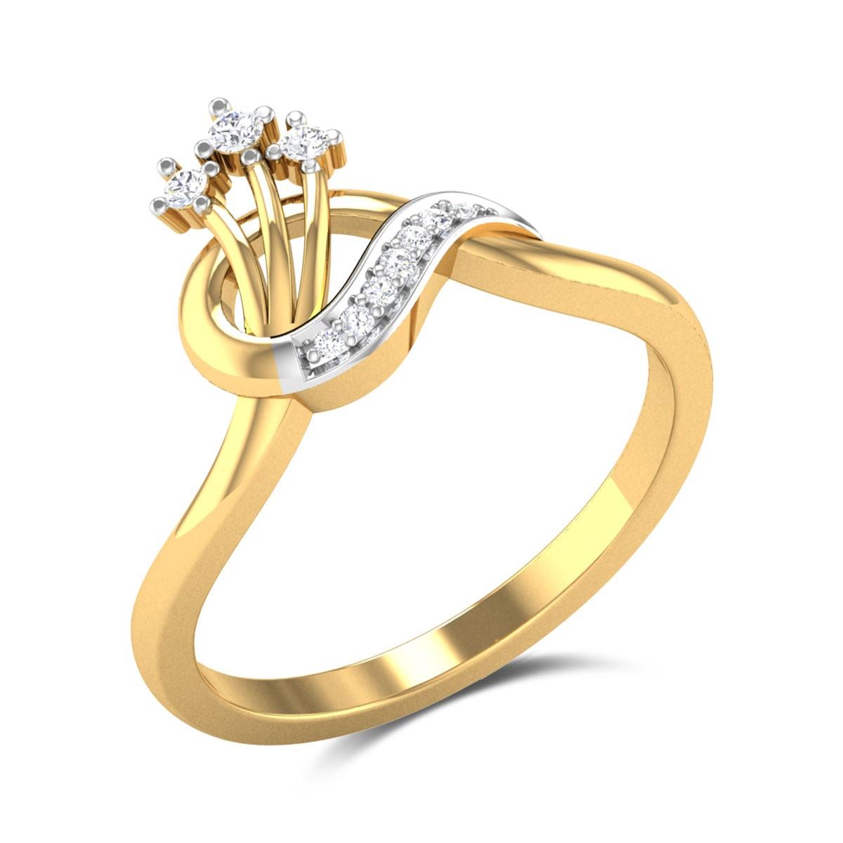 Buy Delanie Diamond Ring in 2.69 Gms Gold Online