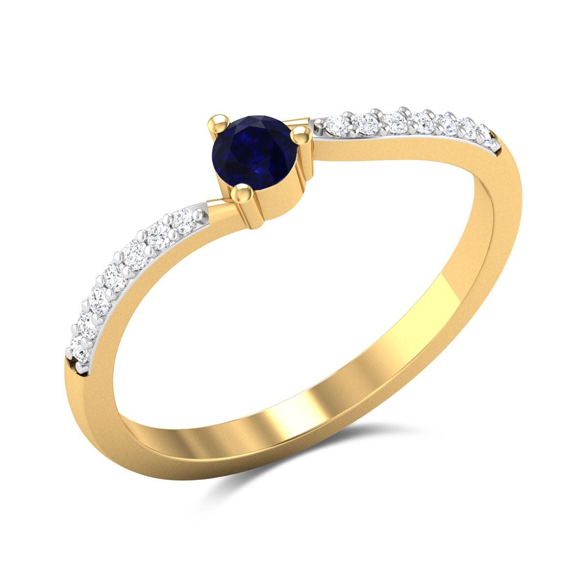 Simply Sapphire Diamond Ring