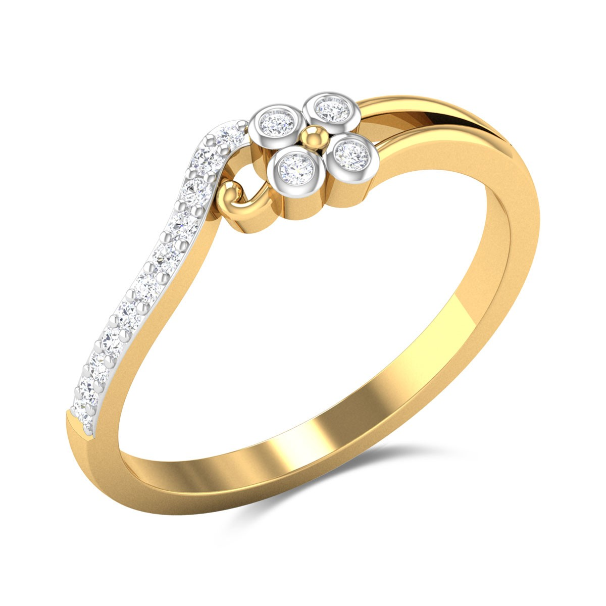 Frangipani Diamond Ring