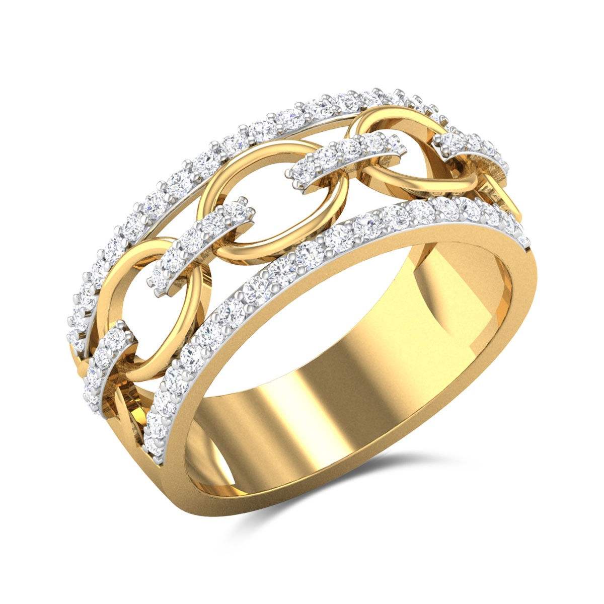 Interlock Betony Diamond Ring