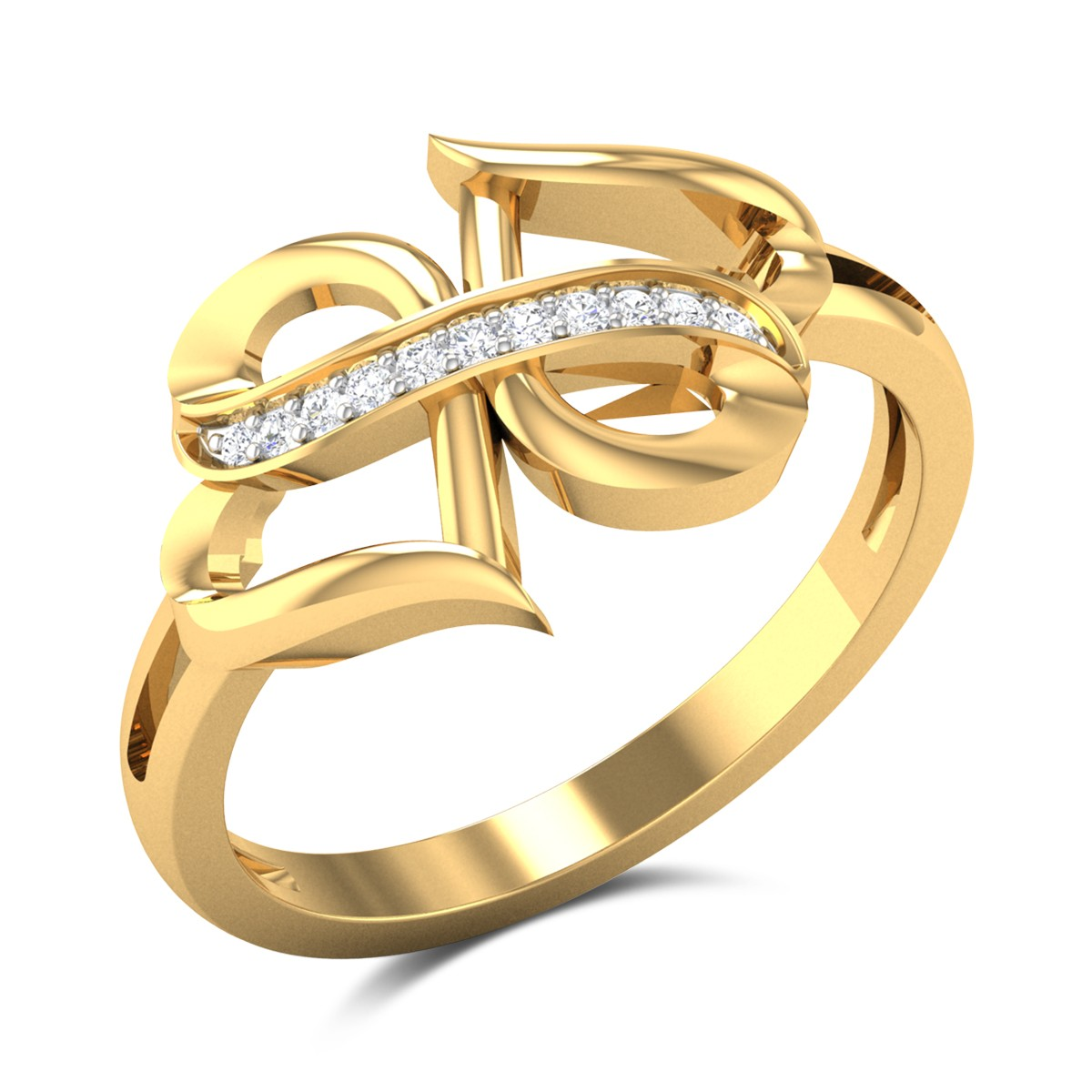 Acheflow Dual Heart Diamond Ring