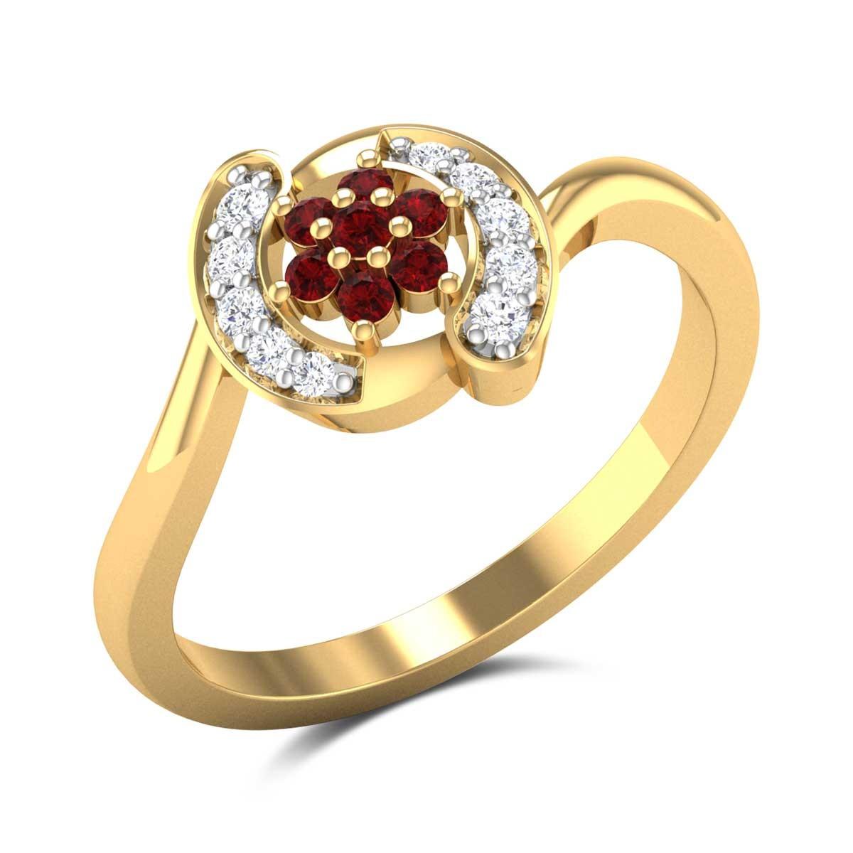 Andromeda Wavy Floral Ring