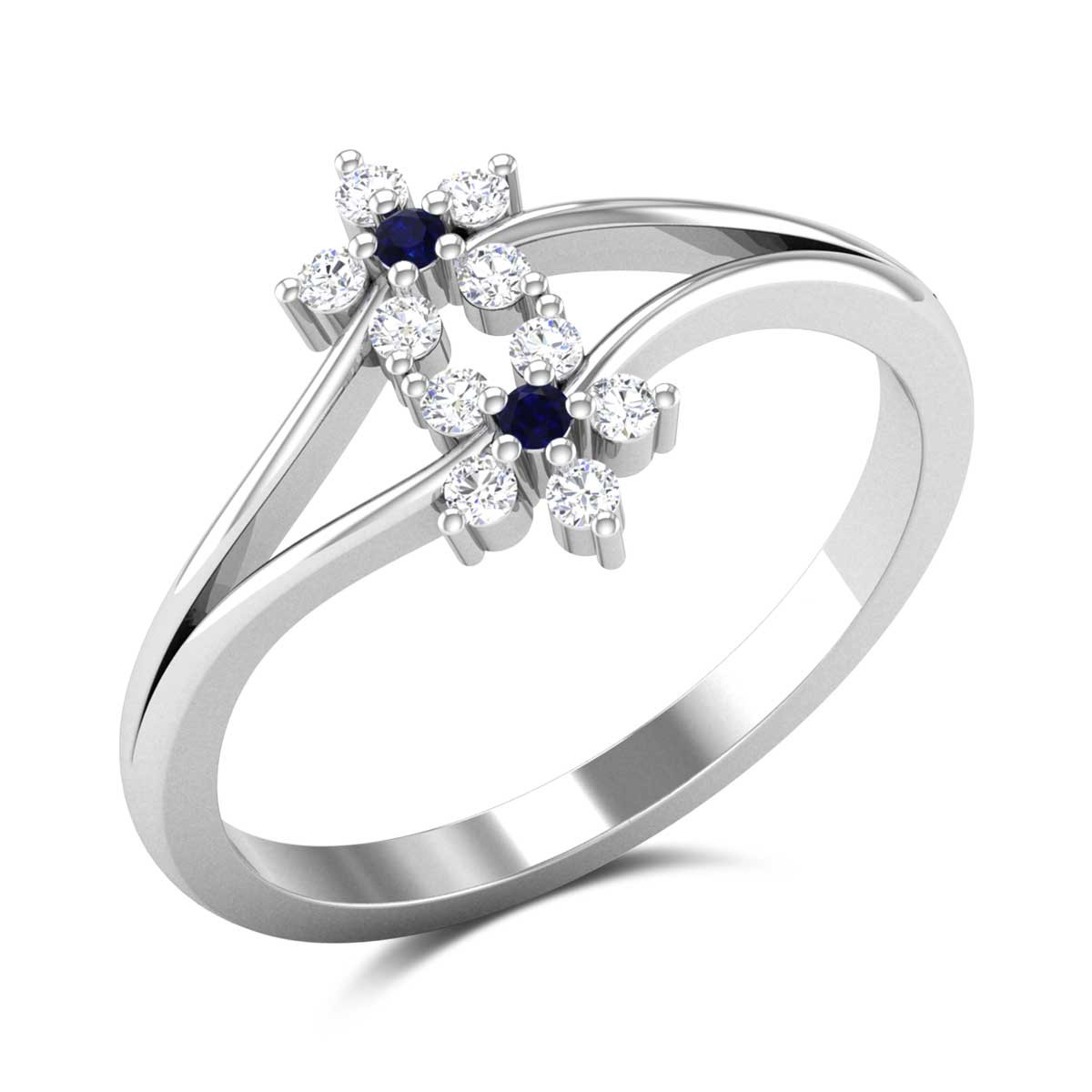 Dual Floral Sapphire Ring