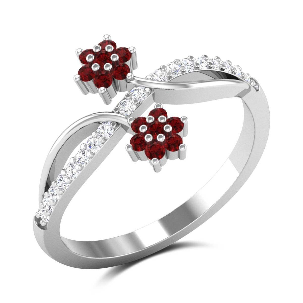 Ruby Dual Flower Ring