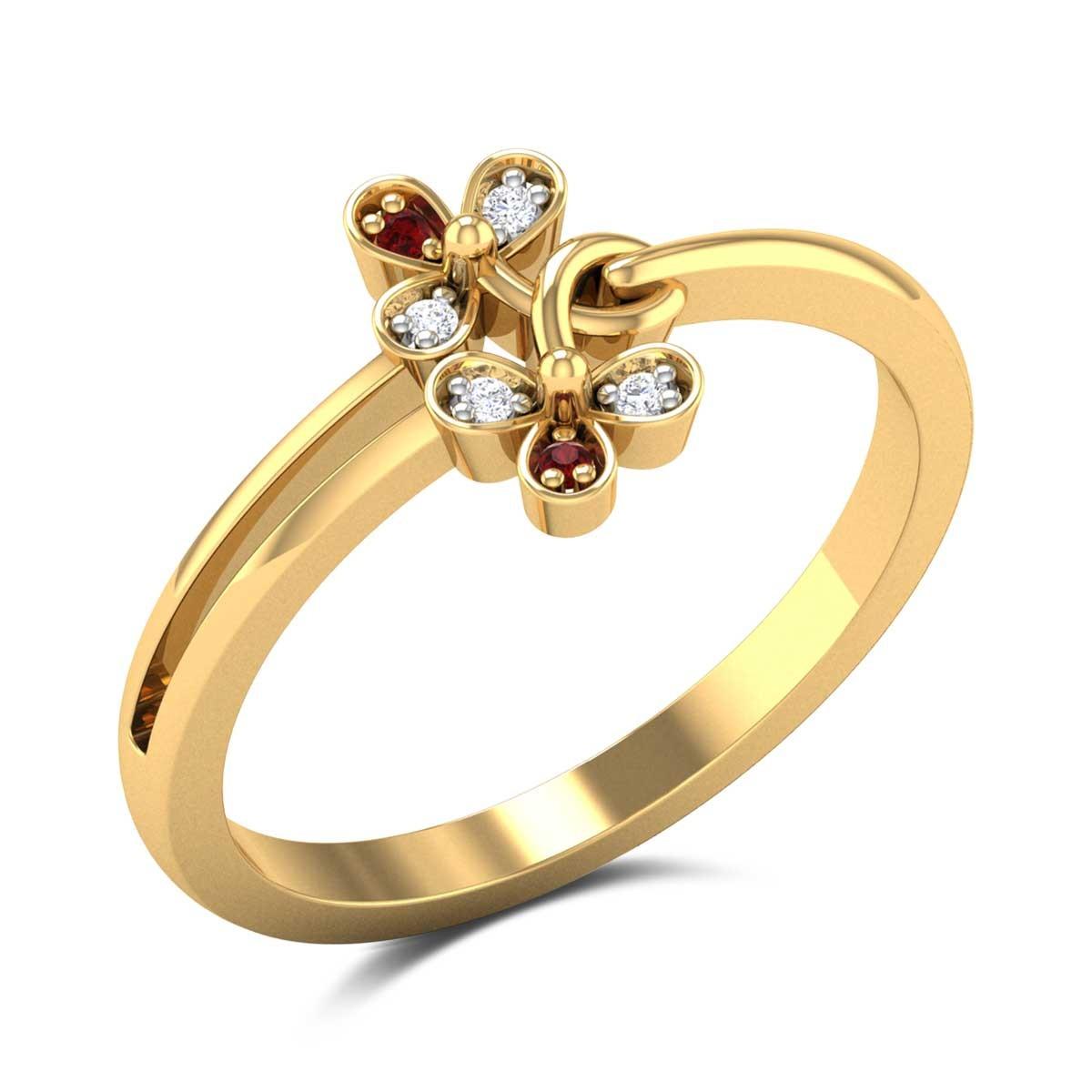 Adelheid Dual Flower Ring