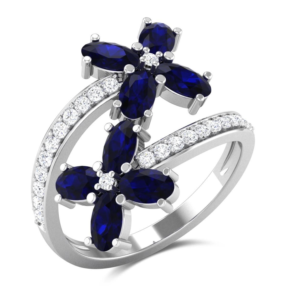 Adorabella Sapphire Floral Ring