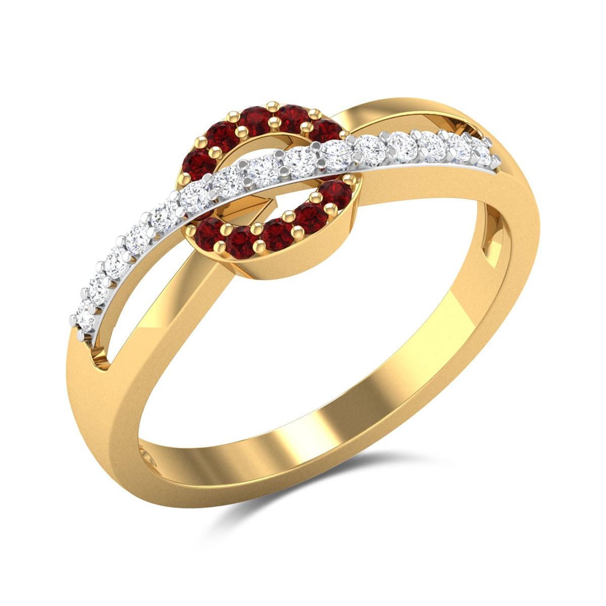Beatrix Ruby Diamond Ring