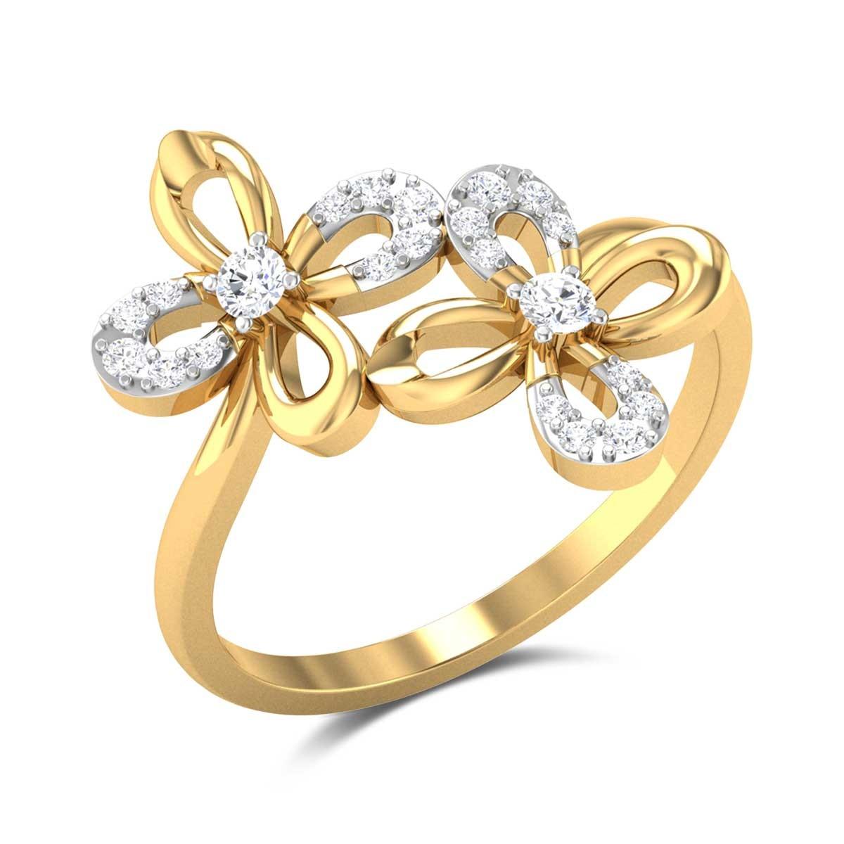 Aemilia Floral Diamond Ring