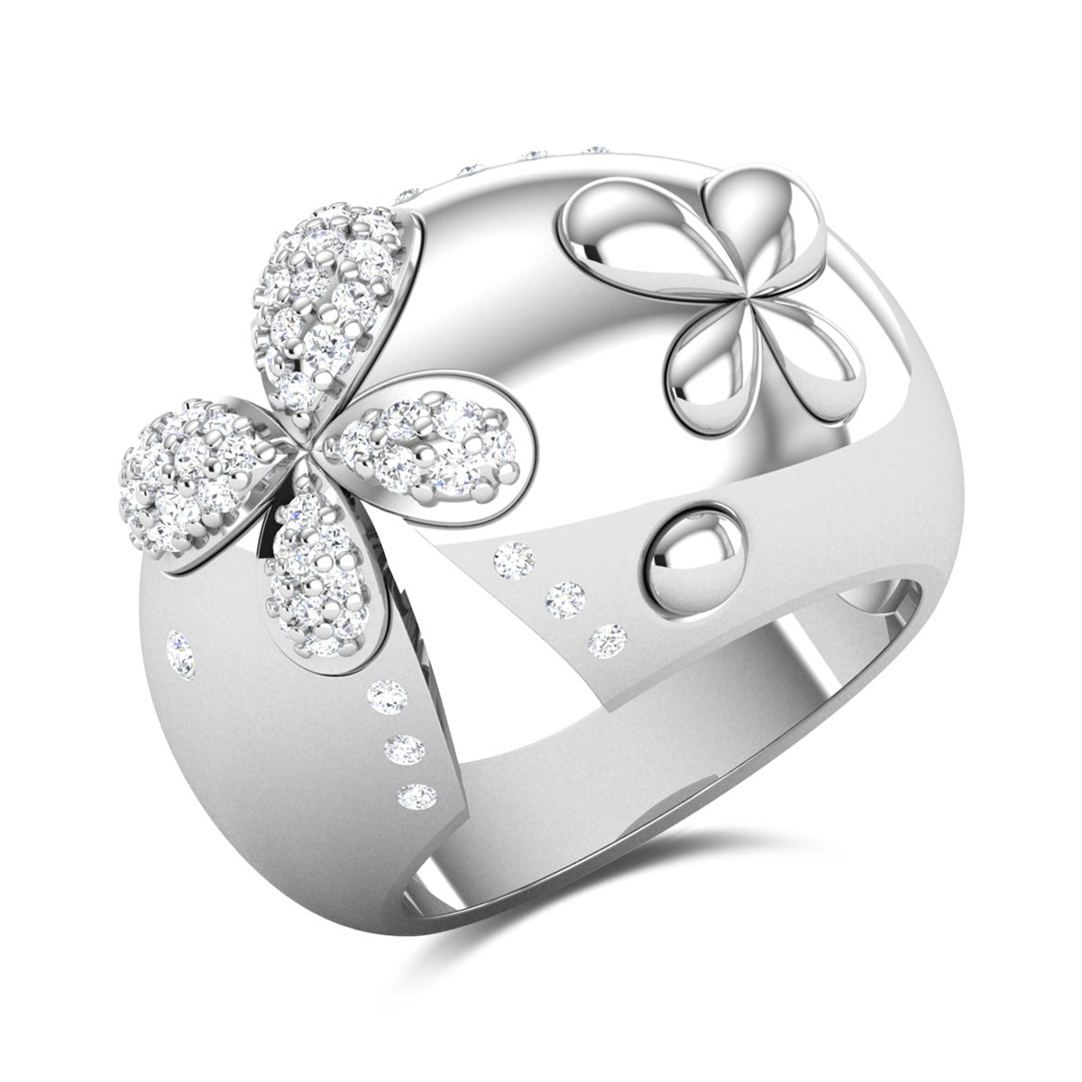 Bahaar Unique Floral Diamond Ring