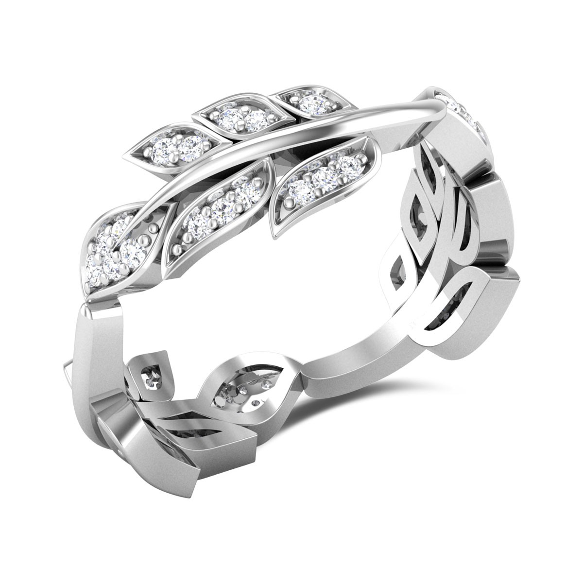 Leafy Creepers Band Ring