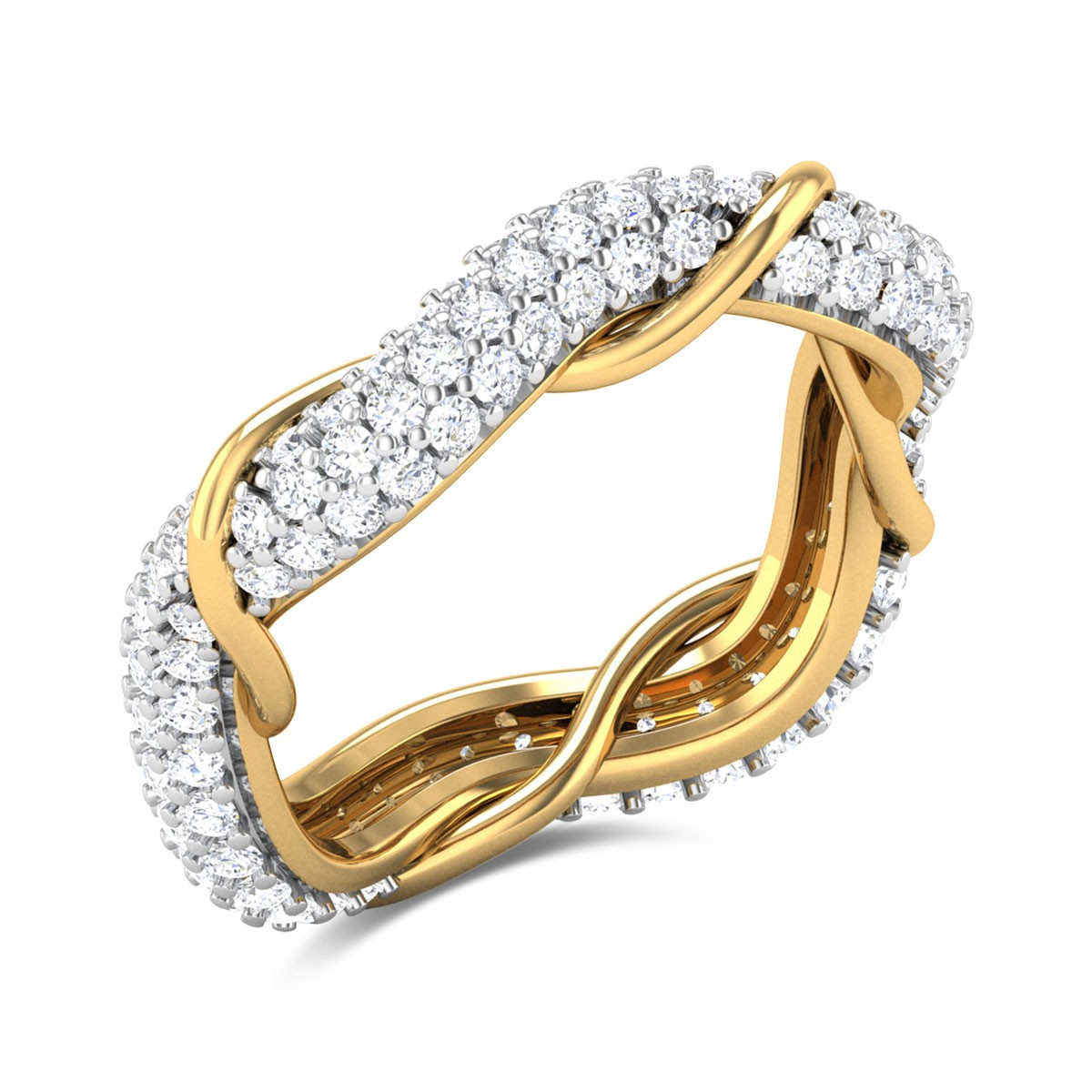 Bahiti Wavy Diamond Ring