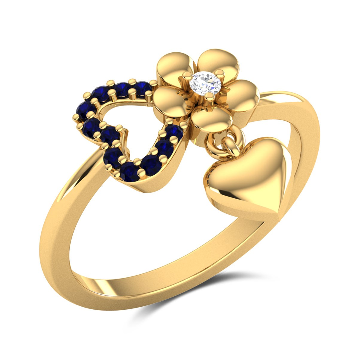 Aashmeen Dropping Heart Ring