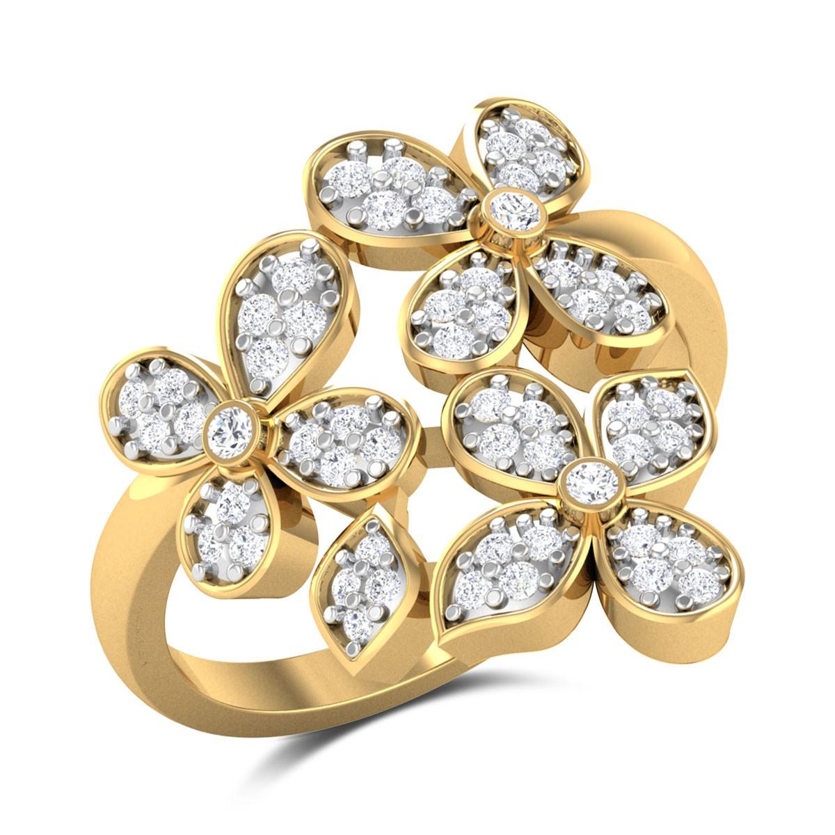 Ishat Floral Diamond Ring