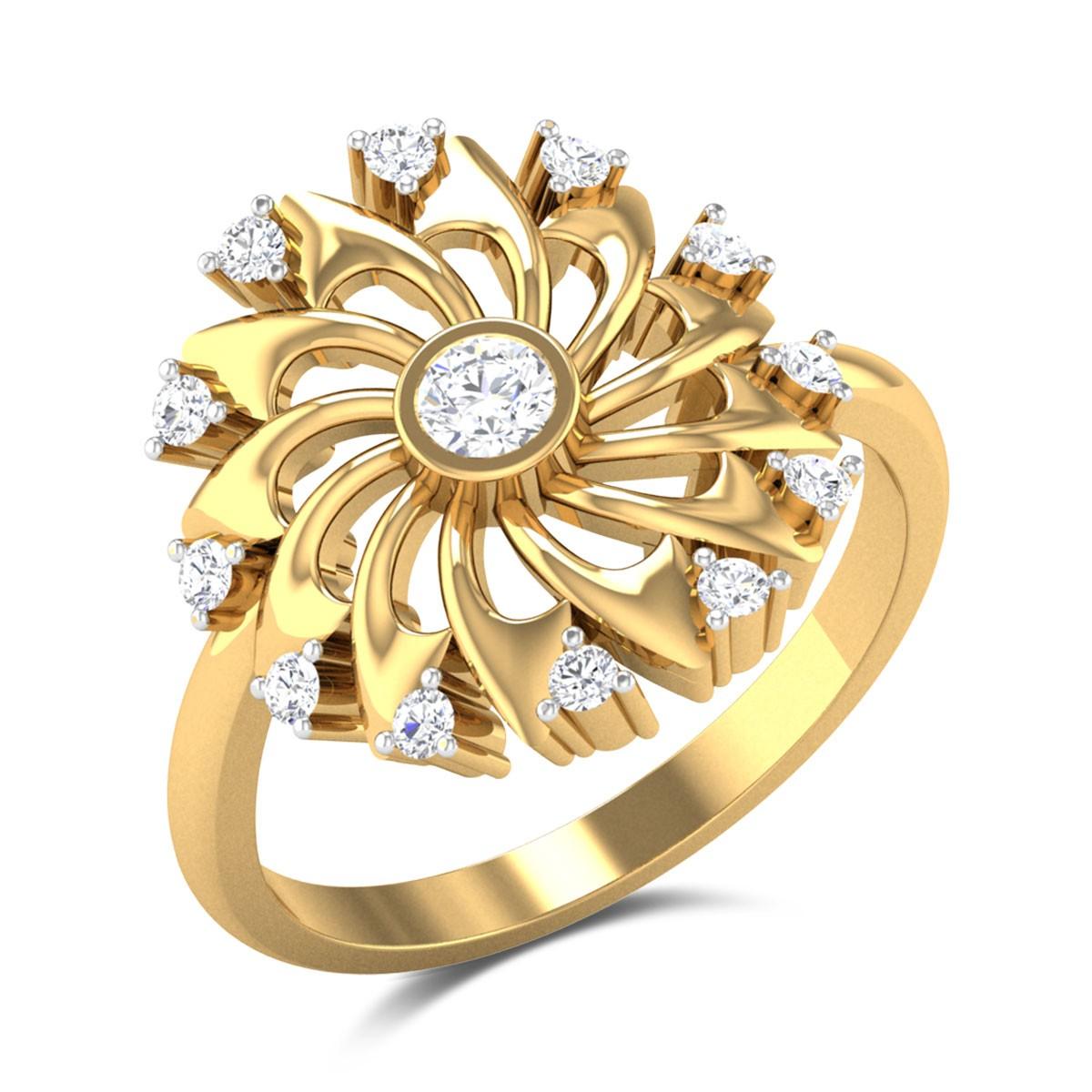 Javan Floral Diamond Ring