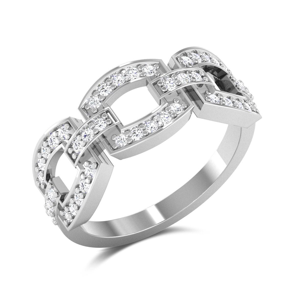 Javas Chain-link Diamond Ring