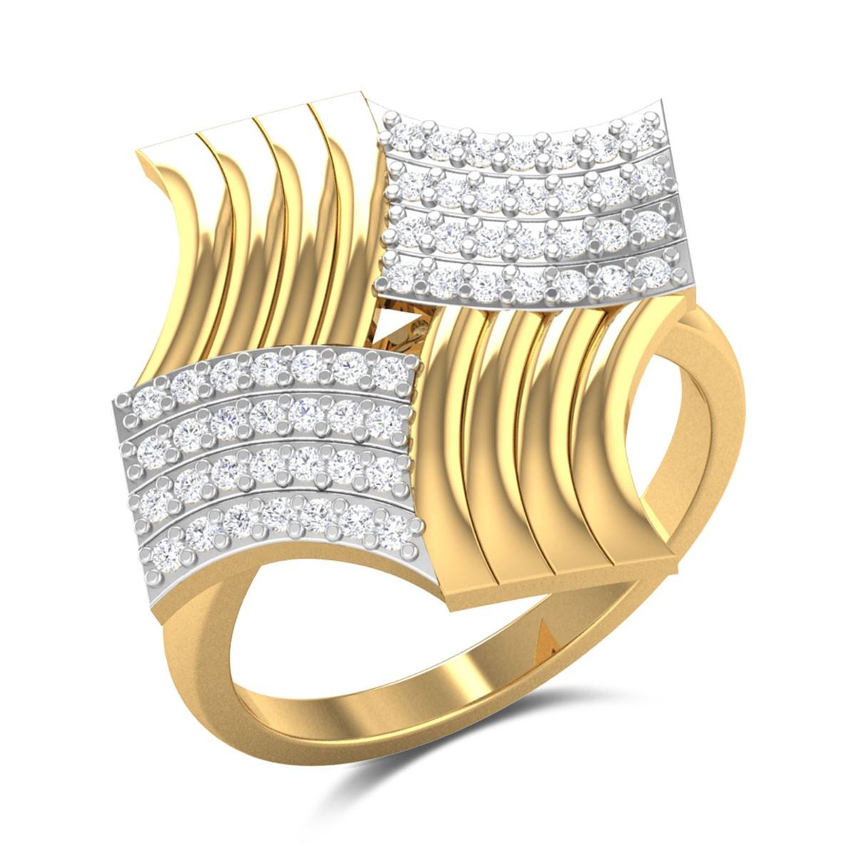 Kanshin Diamond Cocktail Ring
