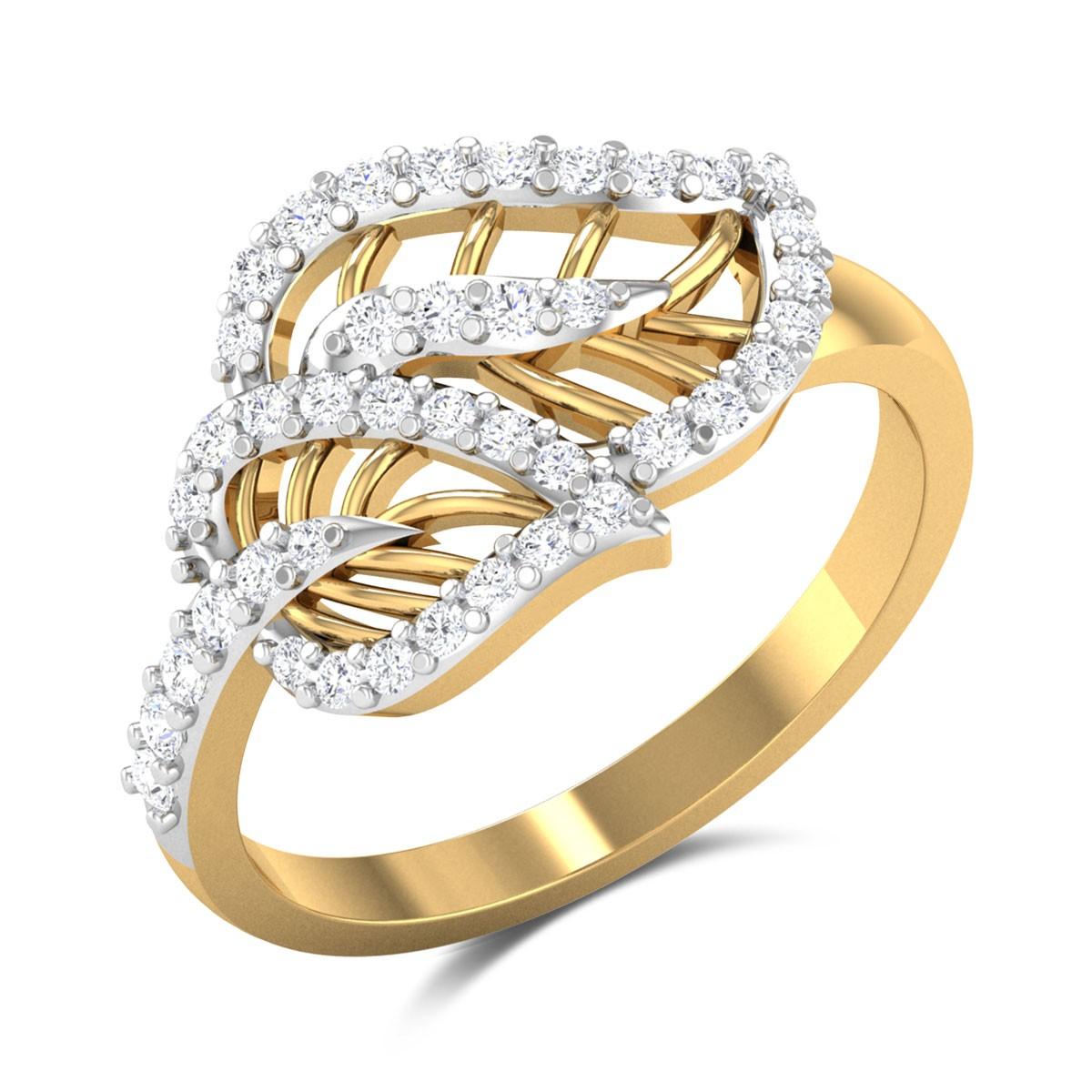 Kobutsu Dual Leaf Diamond Ring