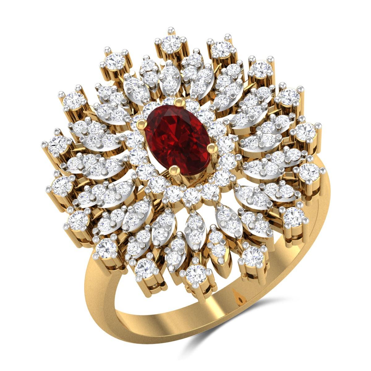 Kunchacko Floral Diamond Ring