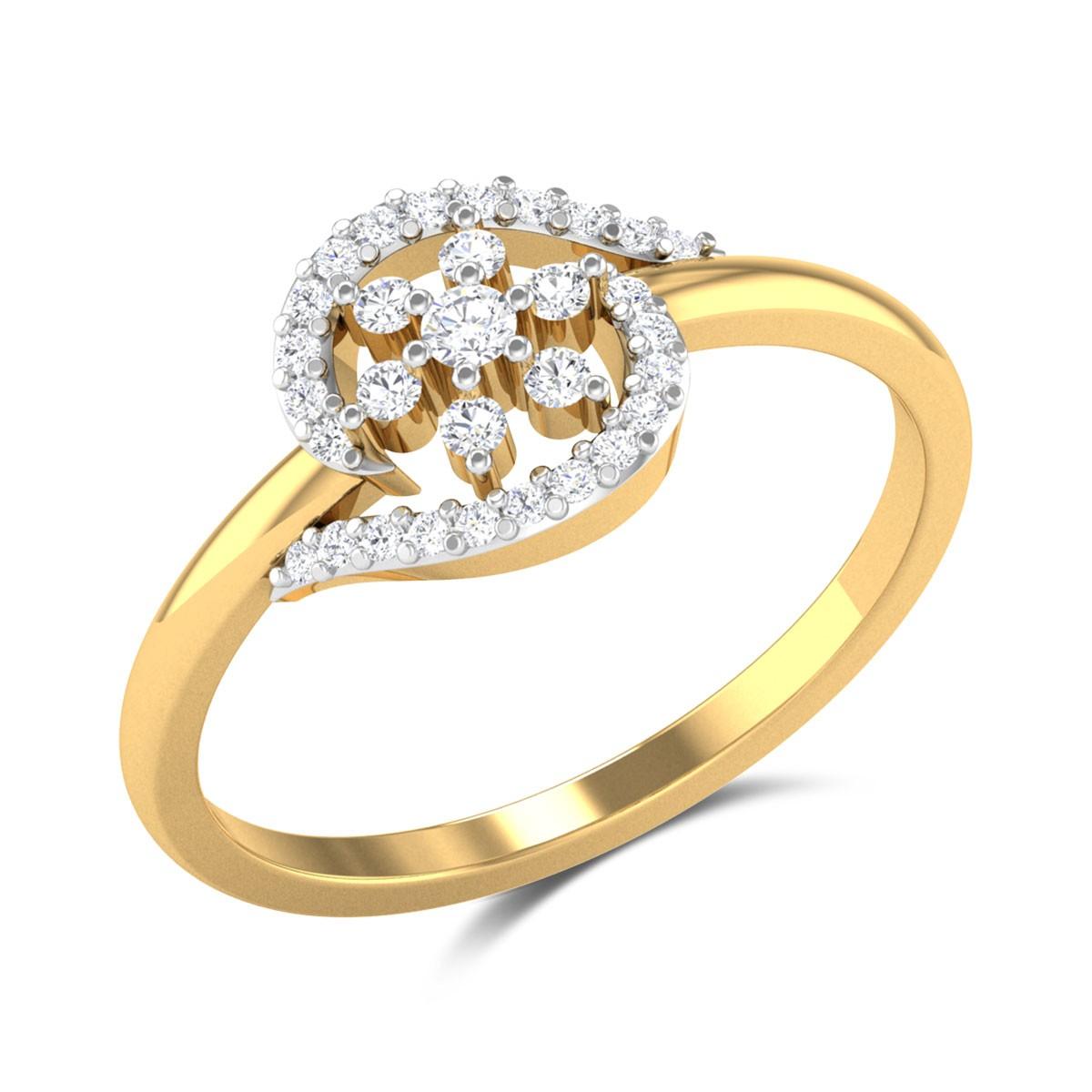 Malay Floral Diamond Ring