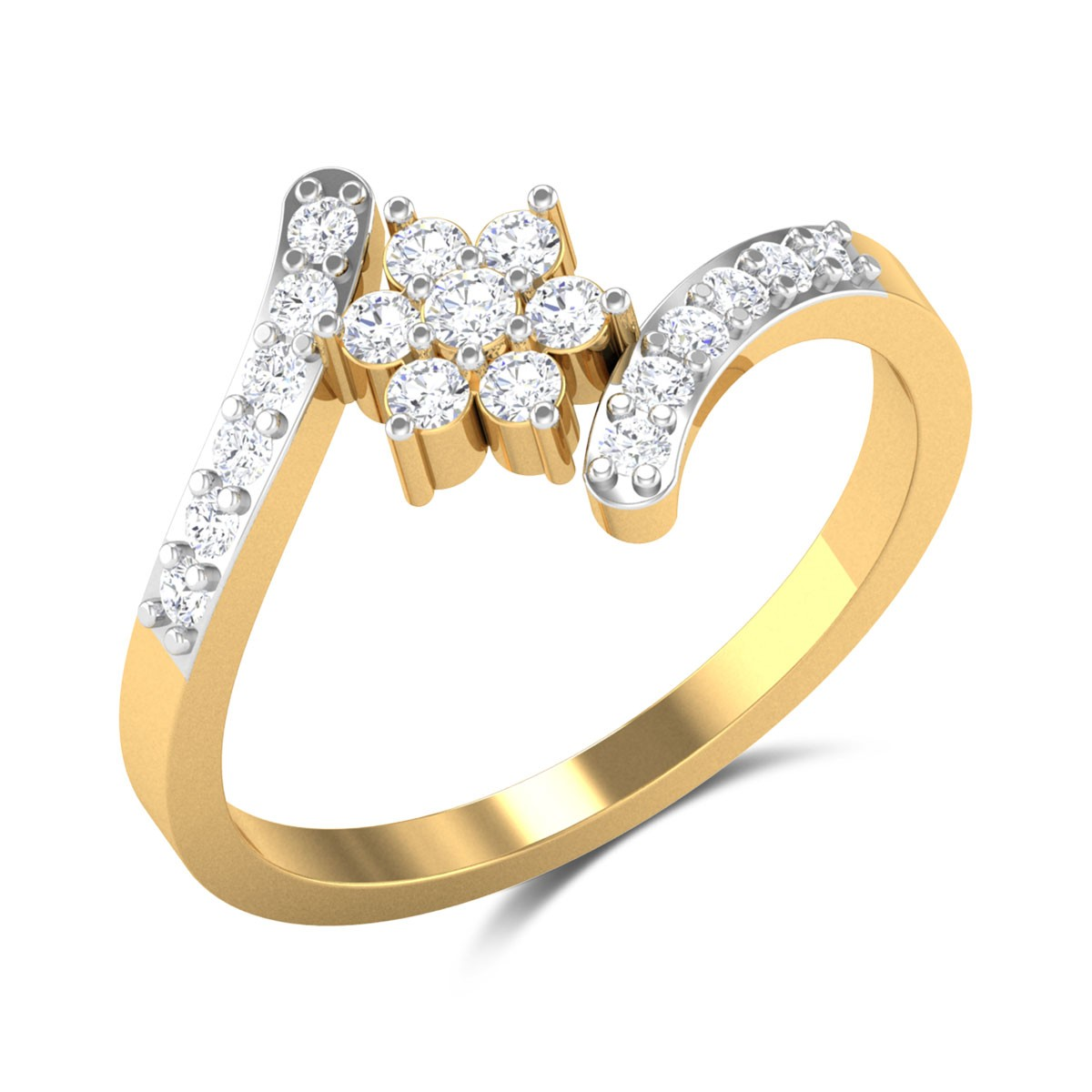 Manzoor Floral Diamond Ring