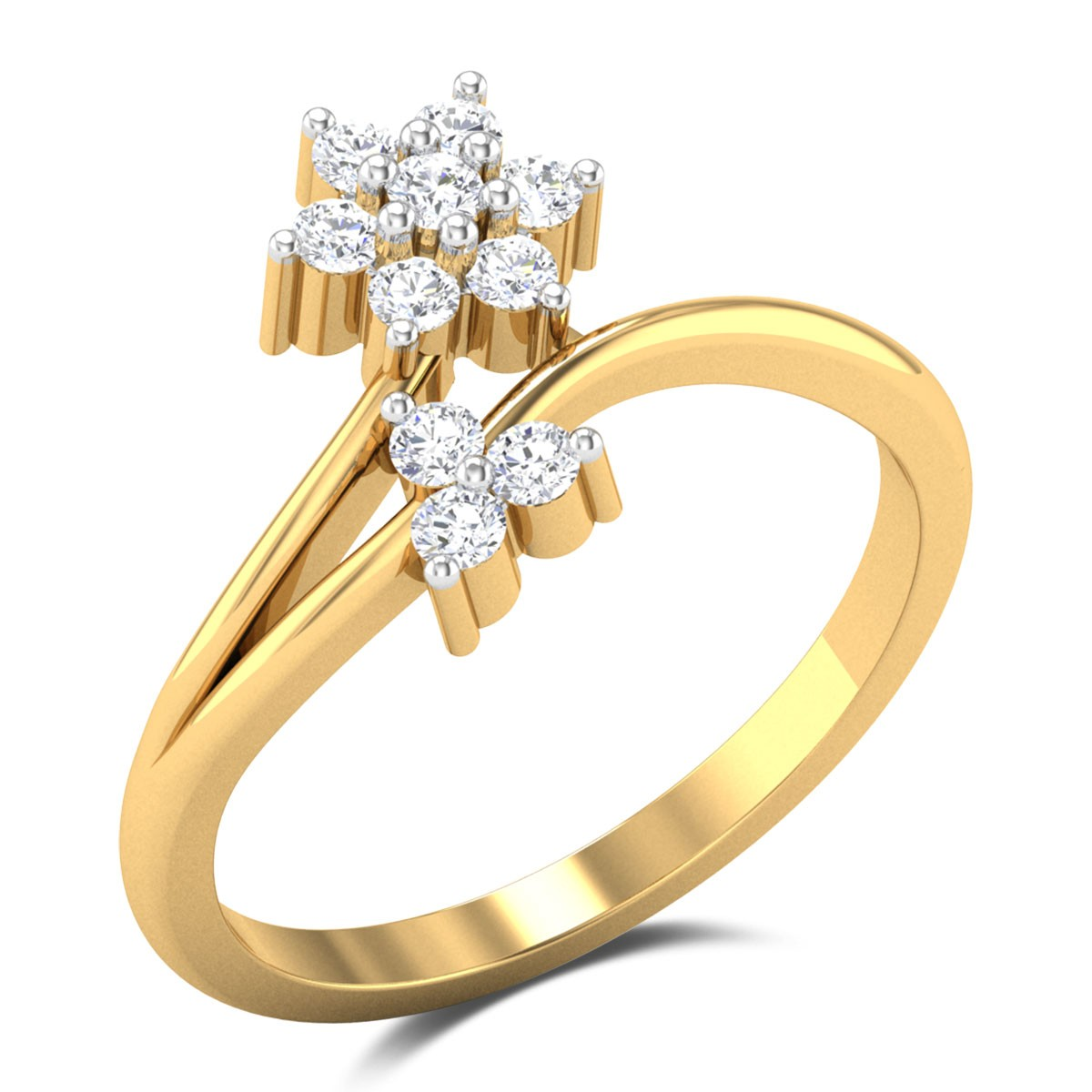Moris Floral Diamond Ring