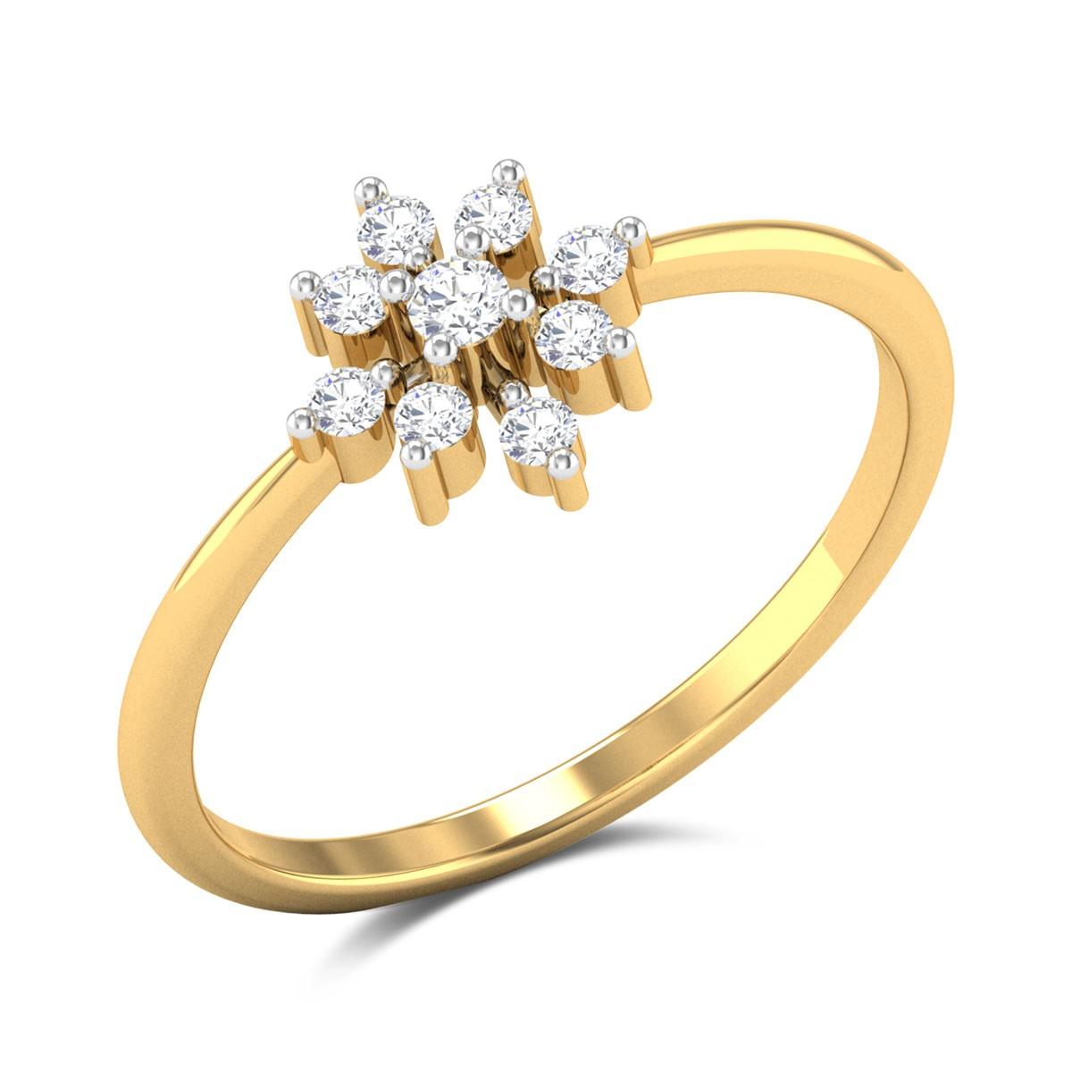 Nevish Floral Diamond Ring