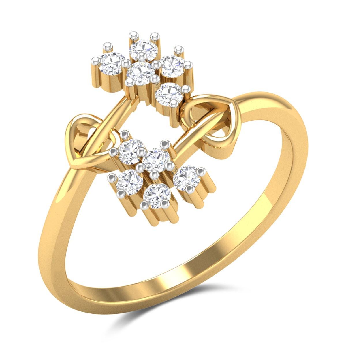 Paawan Twin Flower Diamond Ring
