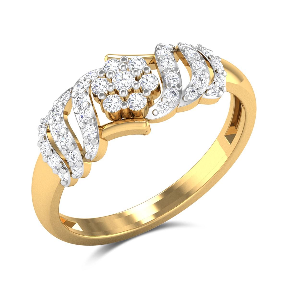 Param Floral Diamond Ring