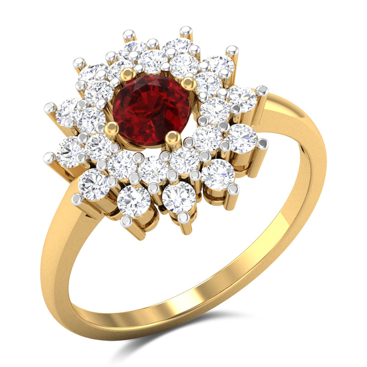 Sankuku Diamond Cocktail Ring