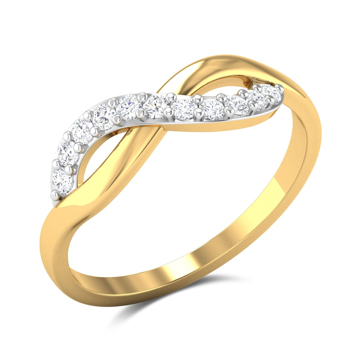 Sinead Wavy Diamond Ring
