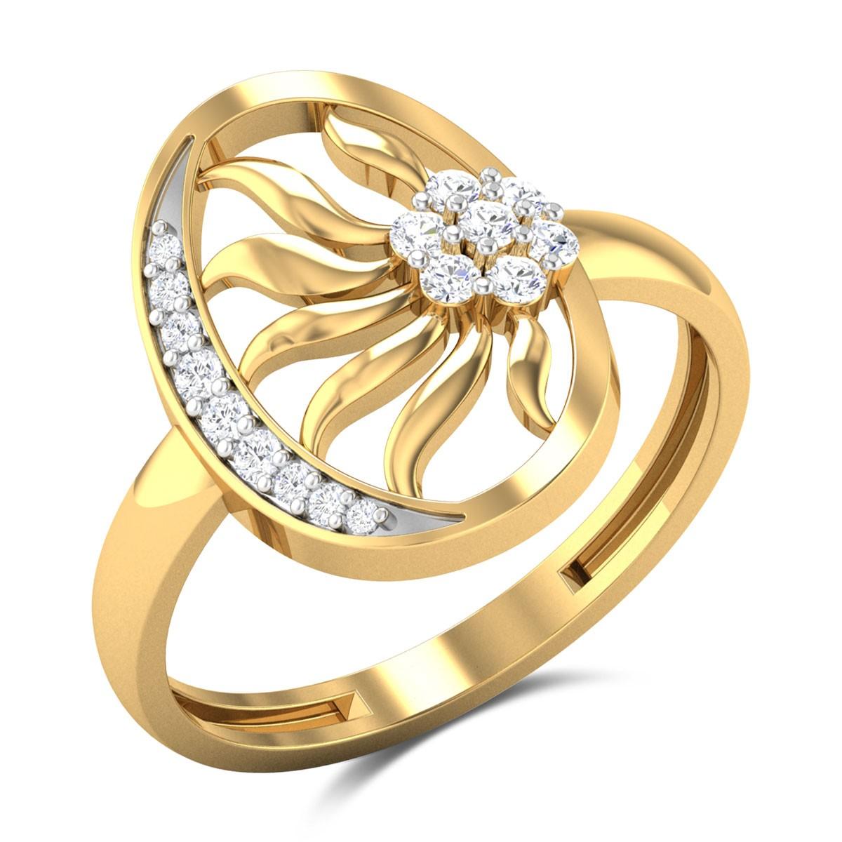Barrett Oval Floral Diamond Ring