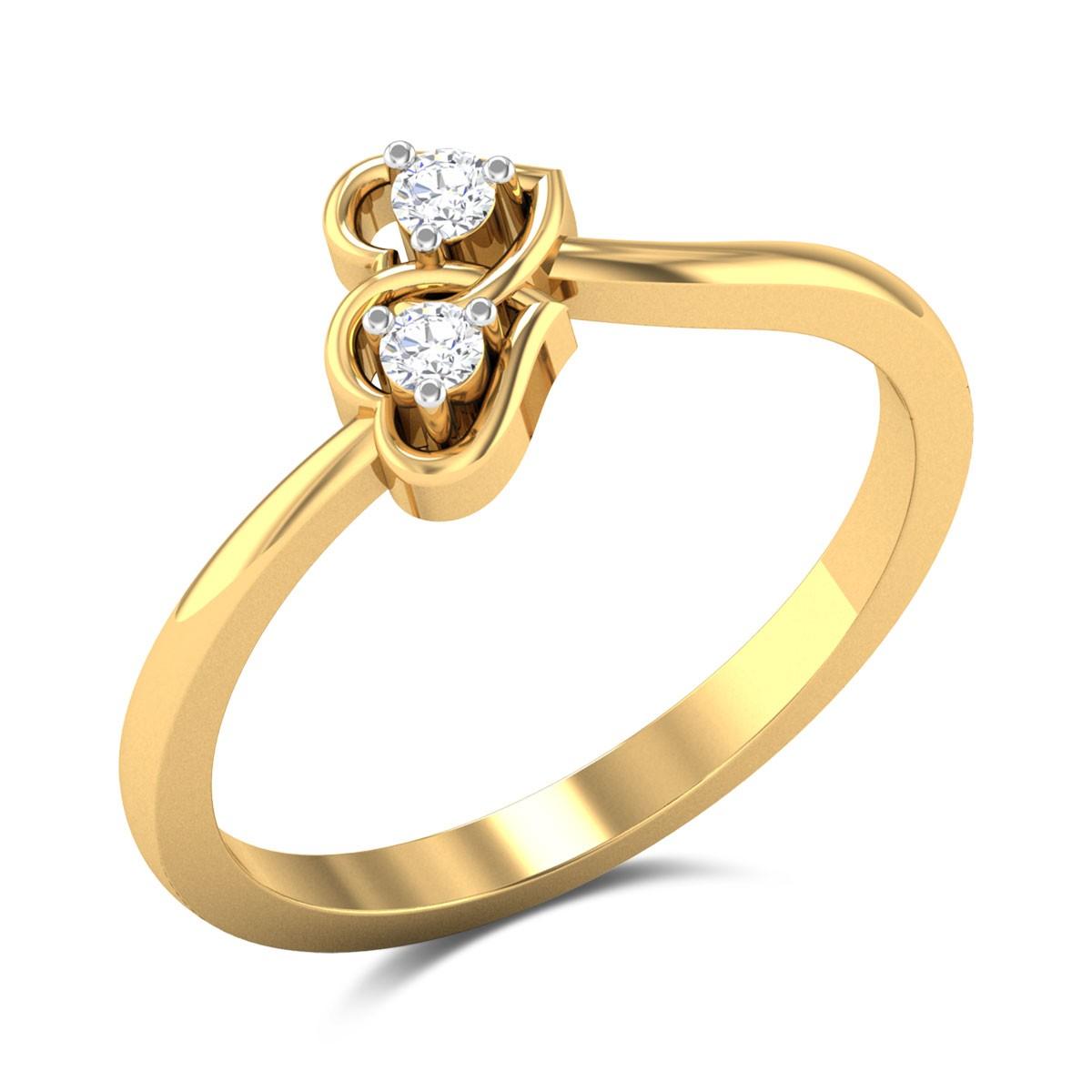 Amery Twin Heart Diamond Ring