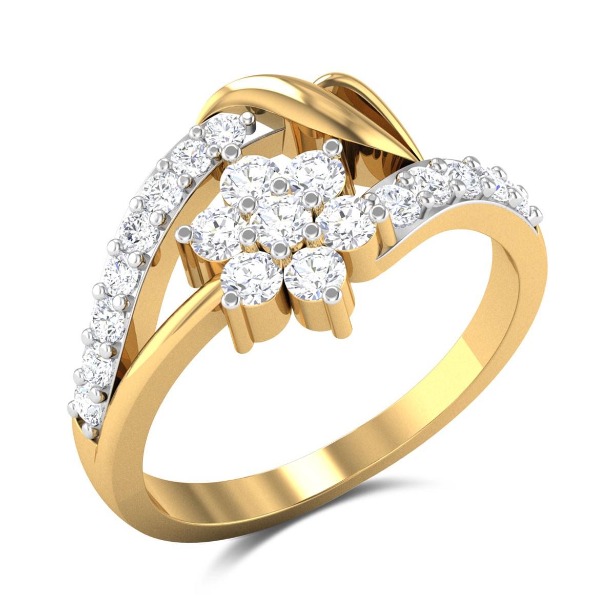 Jaydan Floral Diamond Ring