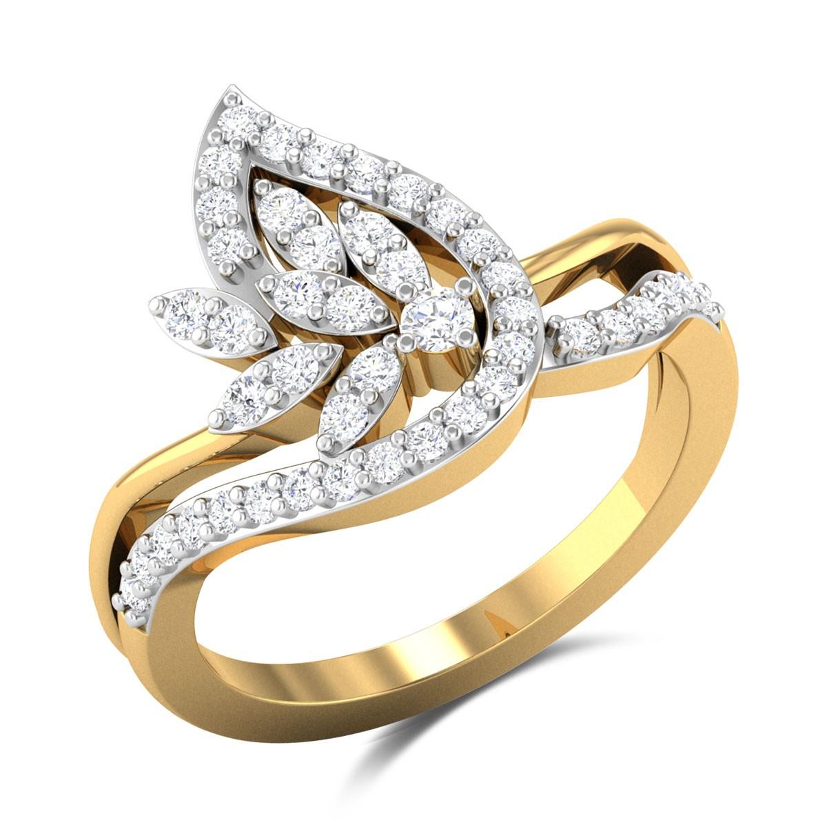 Johann Wavy Floral Diamond Ring