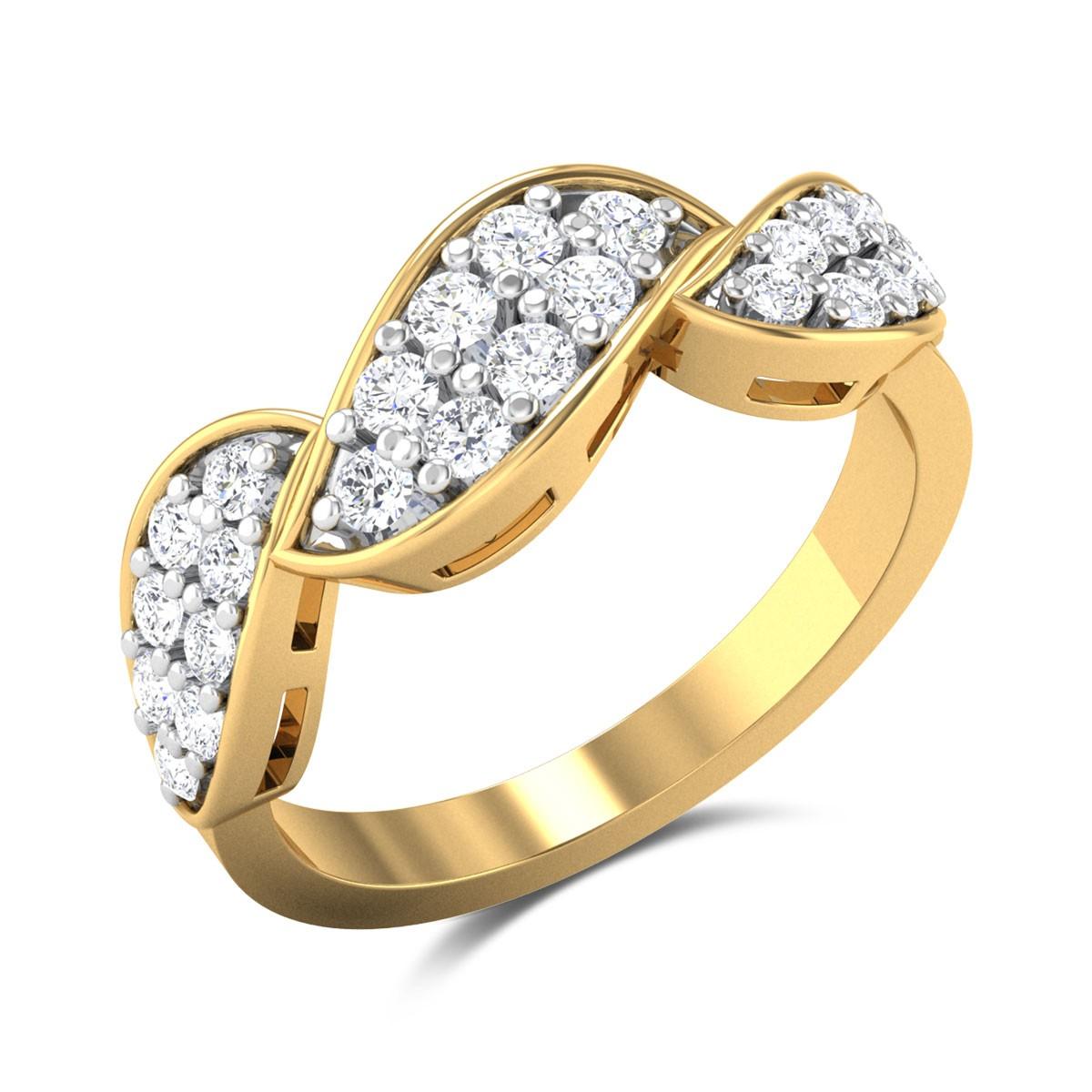Selma Diamond Curly Ring