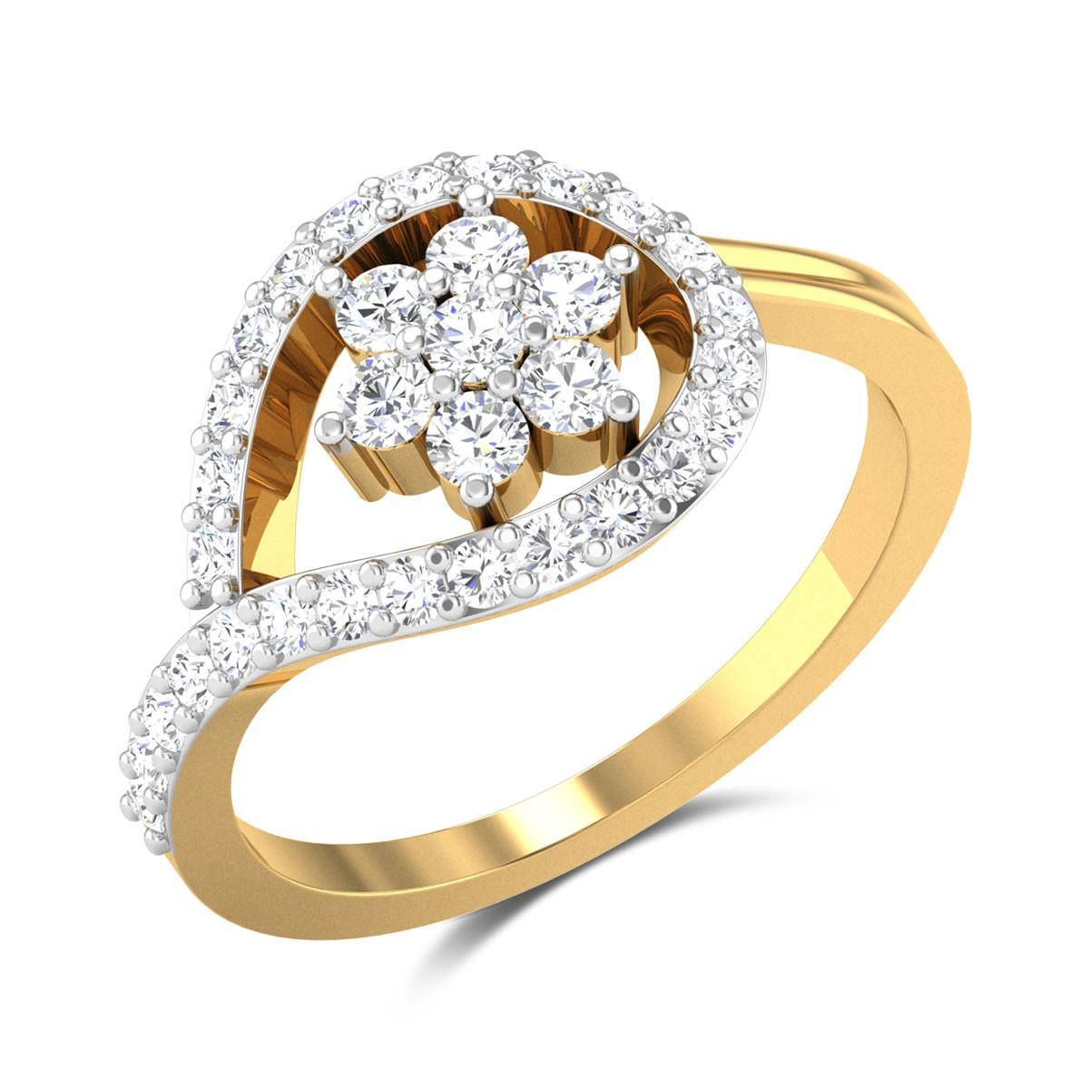 Lambert Wavy Diamond Ring
