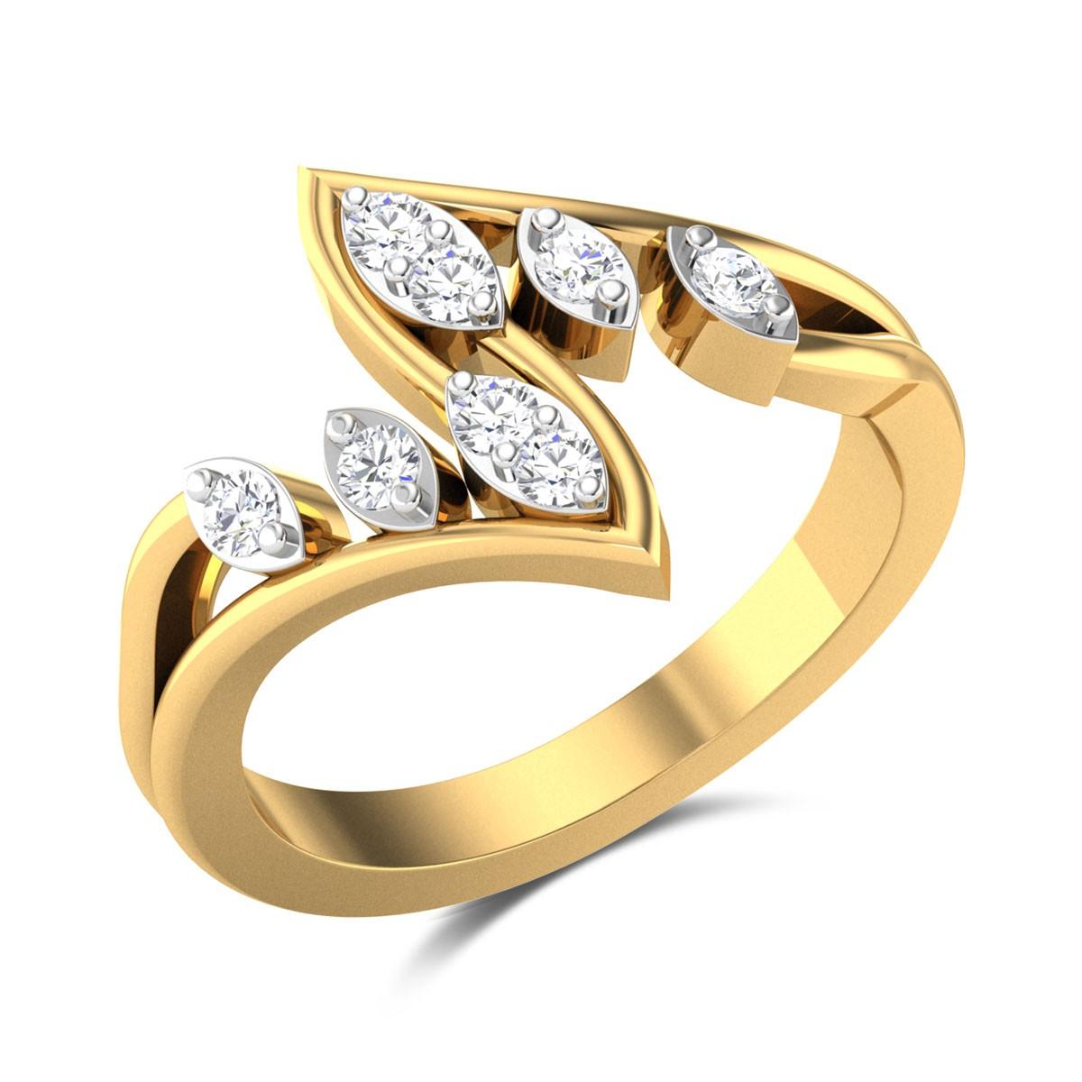 Baldwin Wavy Diamond Ring