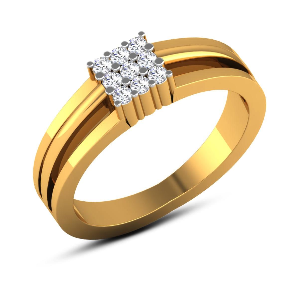 Udele 9 Stone Diamond Ring