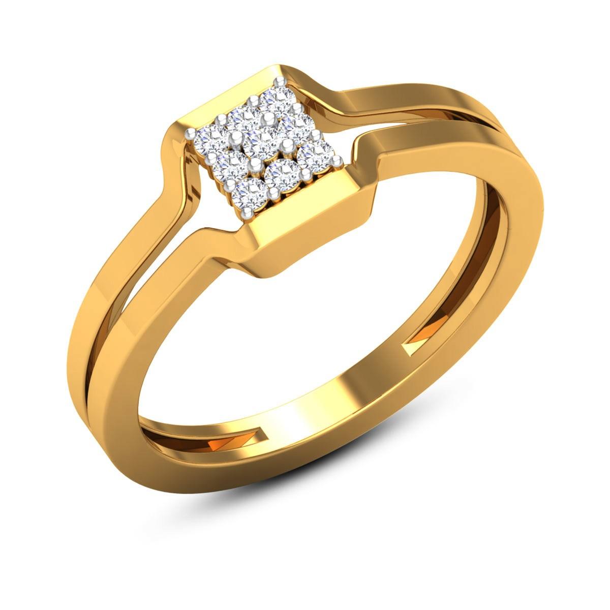 Abhyudaya 9 Stone Diamond Ring