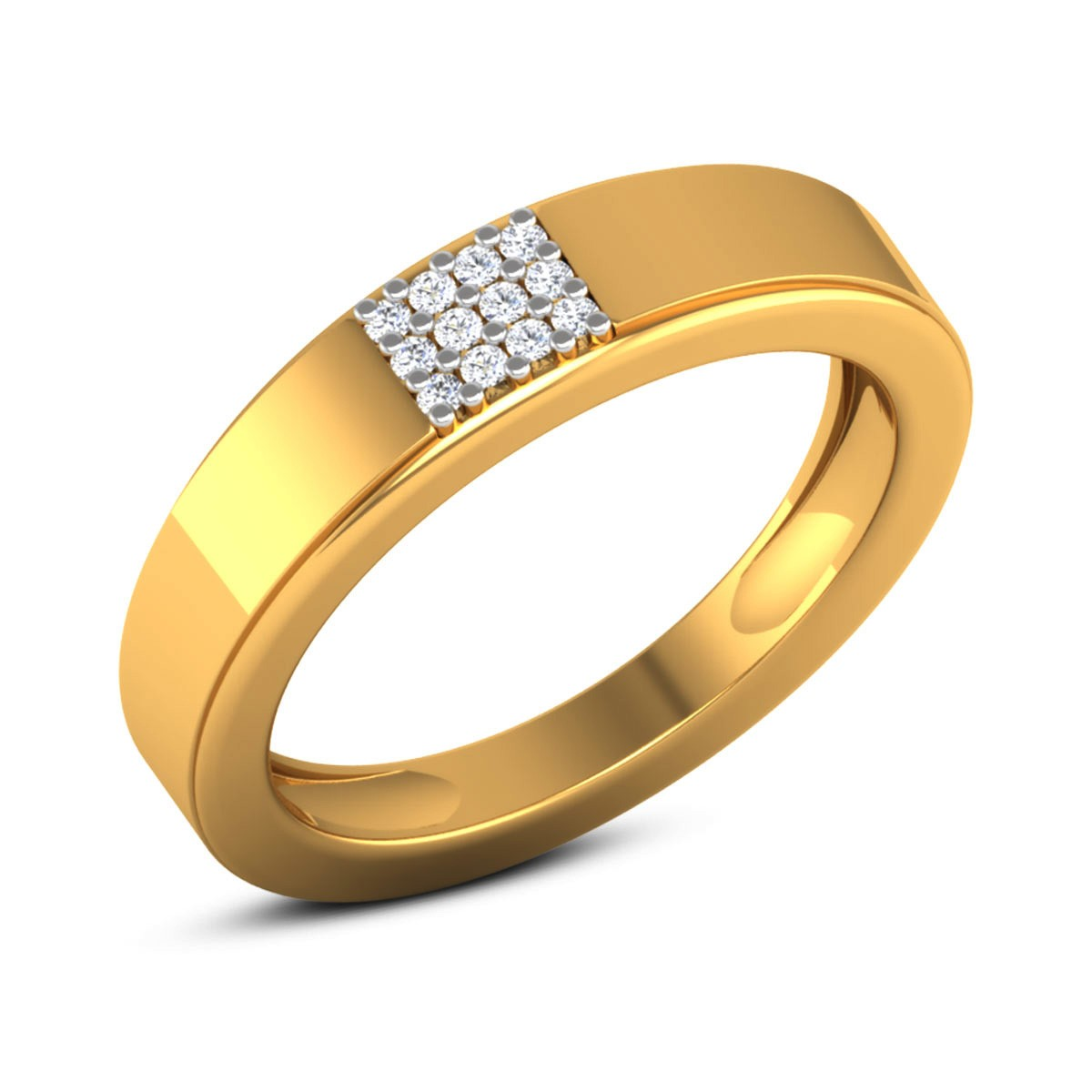 Aahlaad Diamond Band Ring