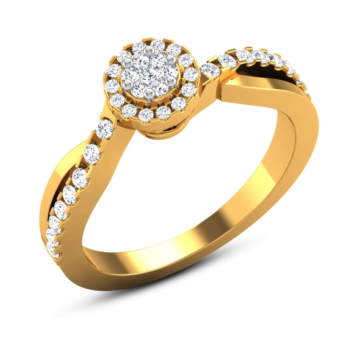 Milagros Split Band Wavy Diamond Ring