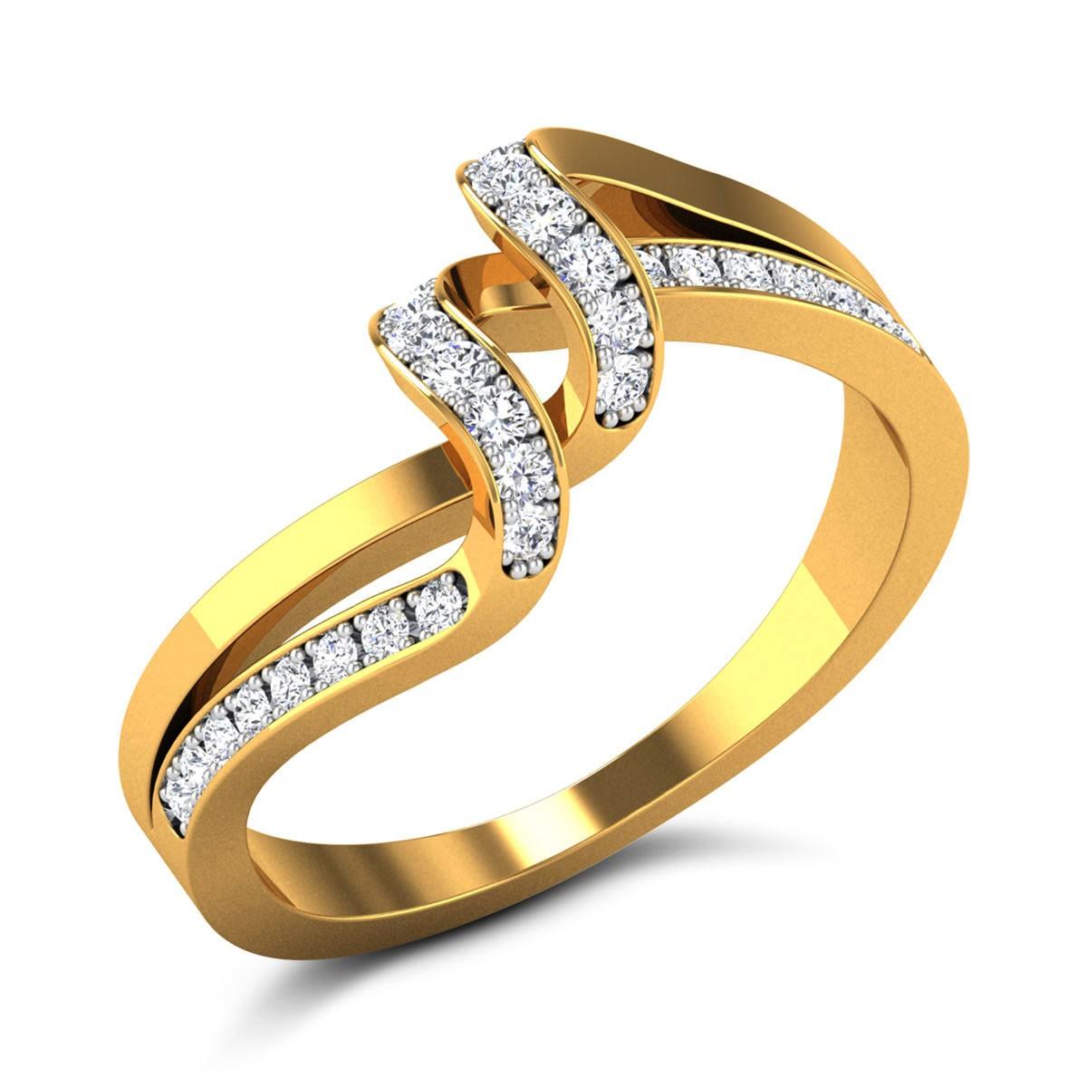 Giancarlo Diamond Wavy Ring