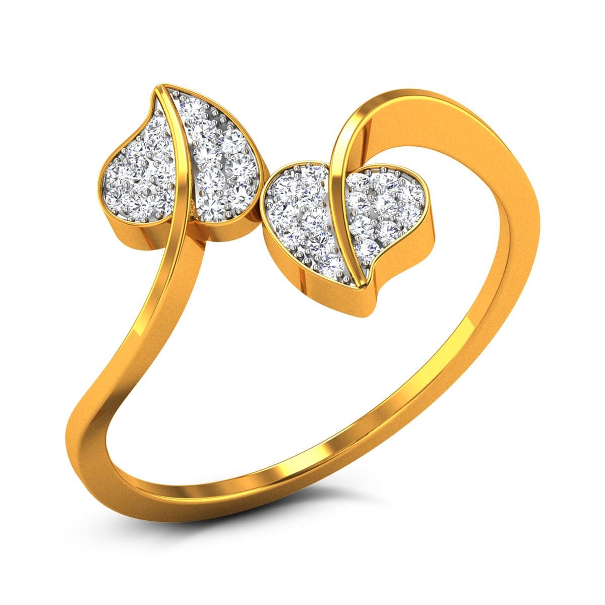 Graham Diamond Twin Leaf Ring