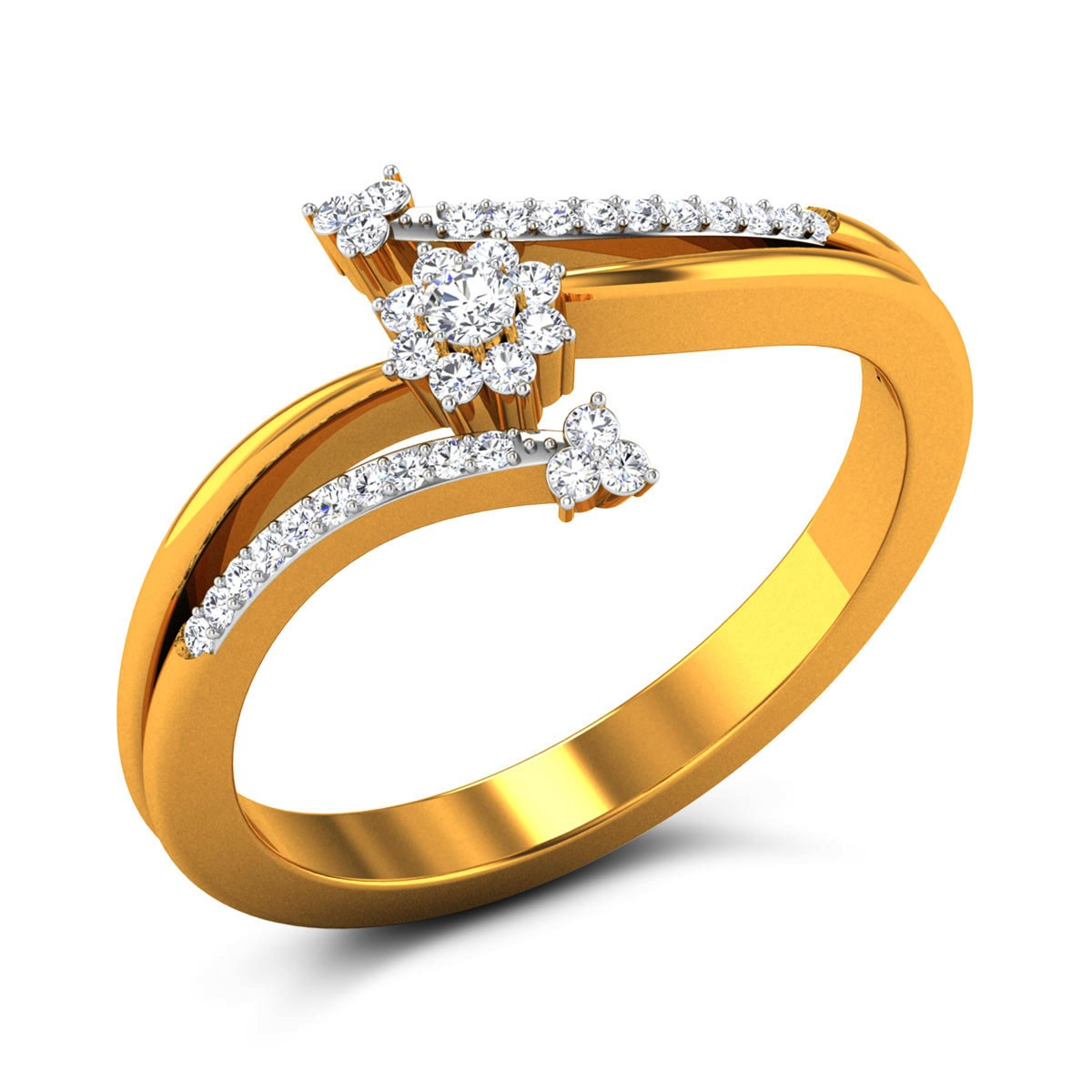 Papillon Diamond Floral Ring