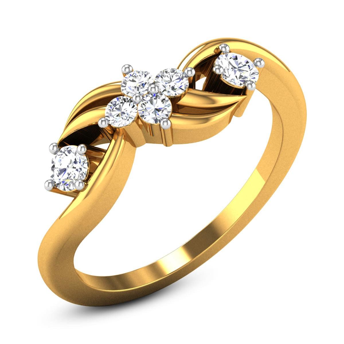 Sigmund Diamond Floral Ring