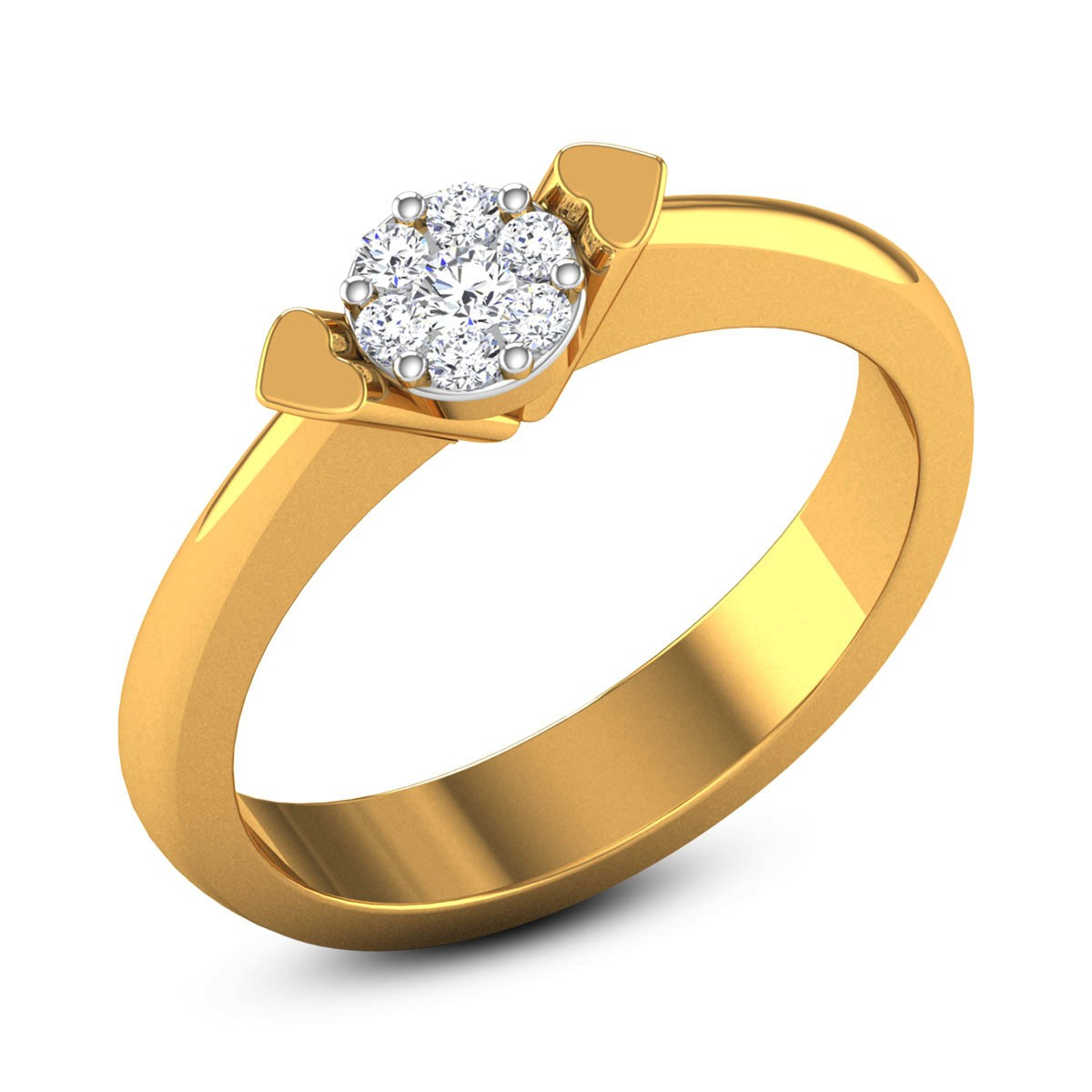 Stanislaus Diamond Heart Ring