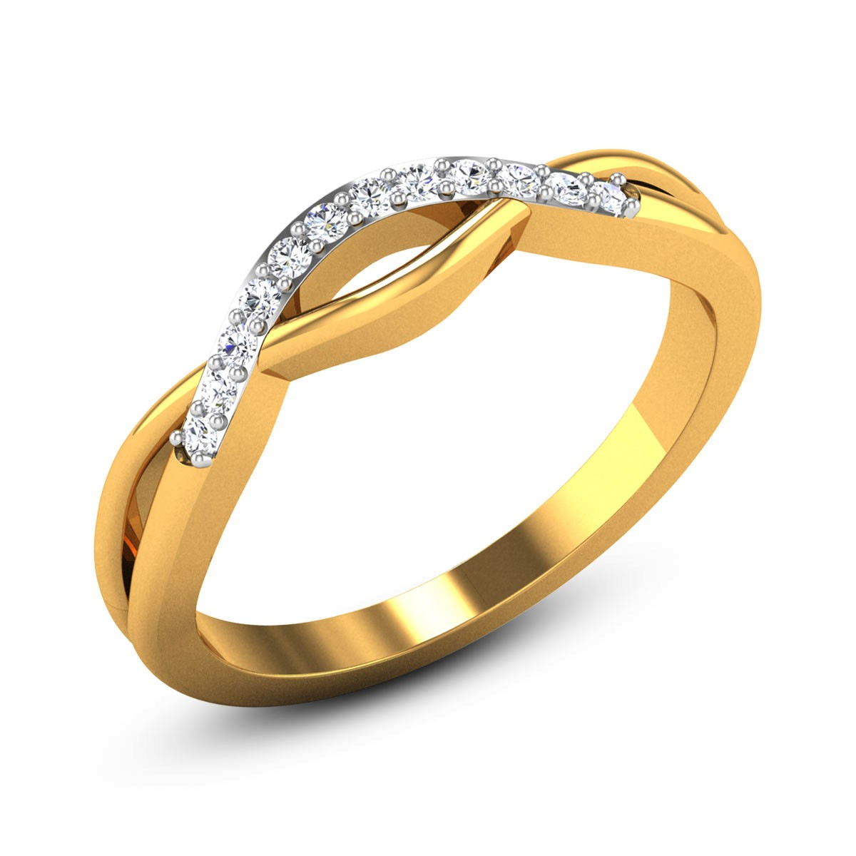 Rosalba Wavy Diamond Ring