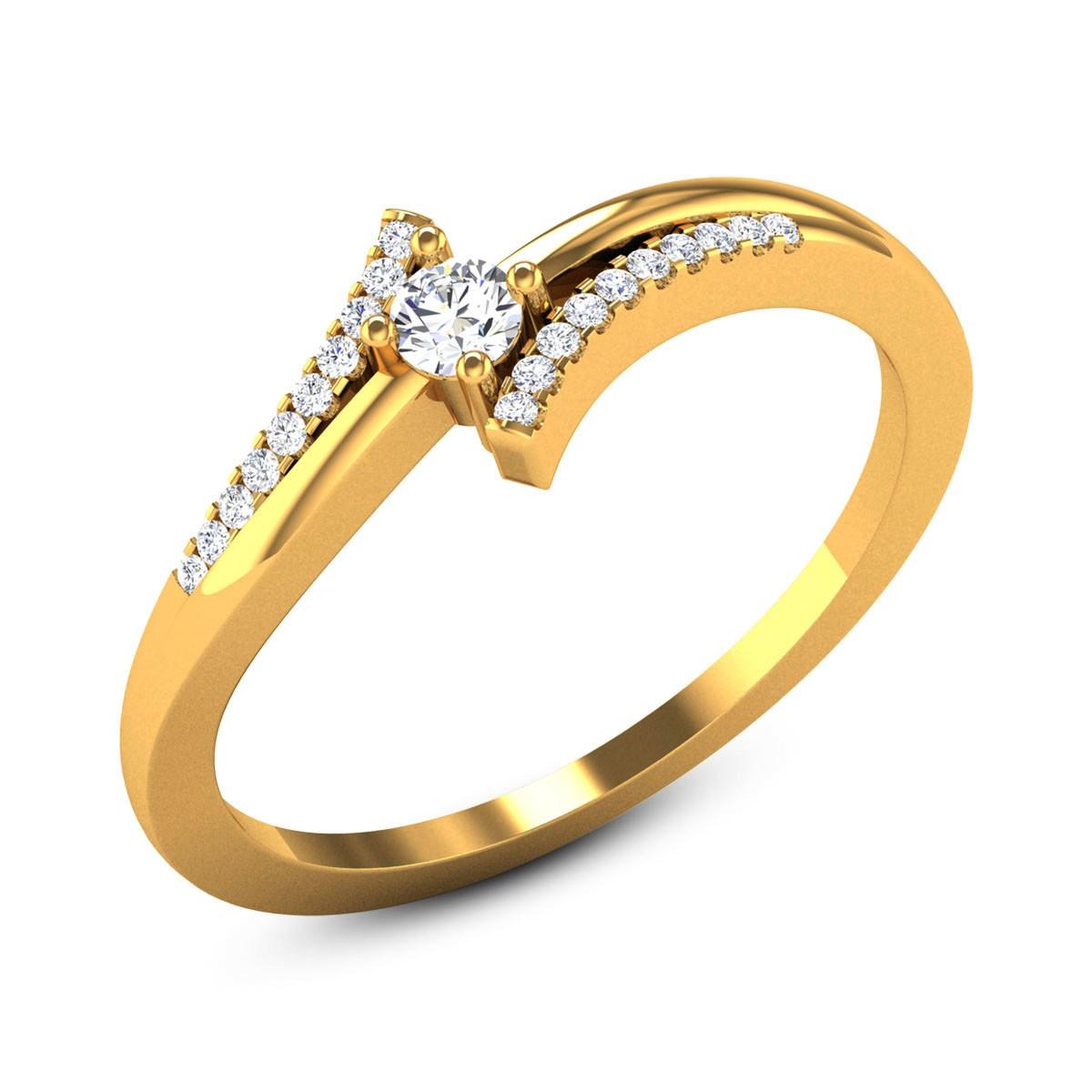 Barite Diamond Ring