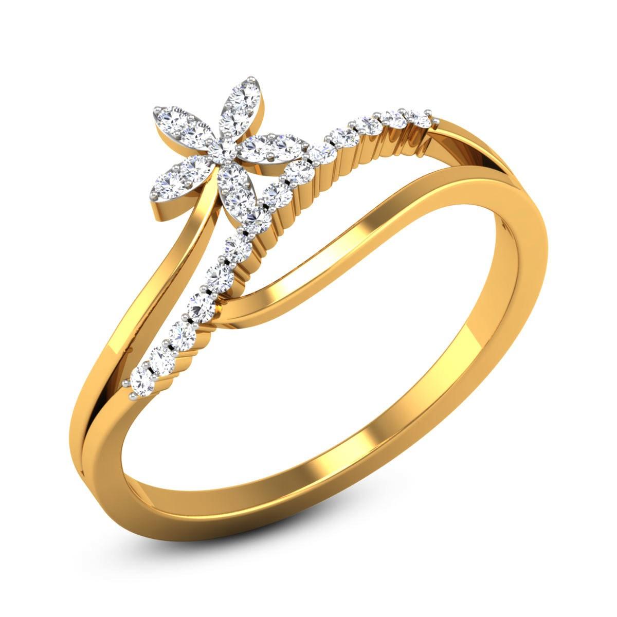 Baidehi Diamond Floral Ring