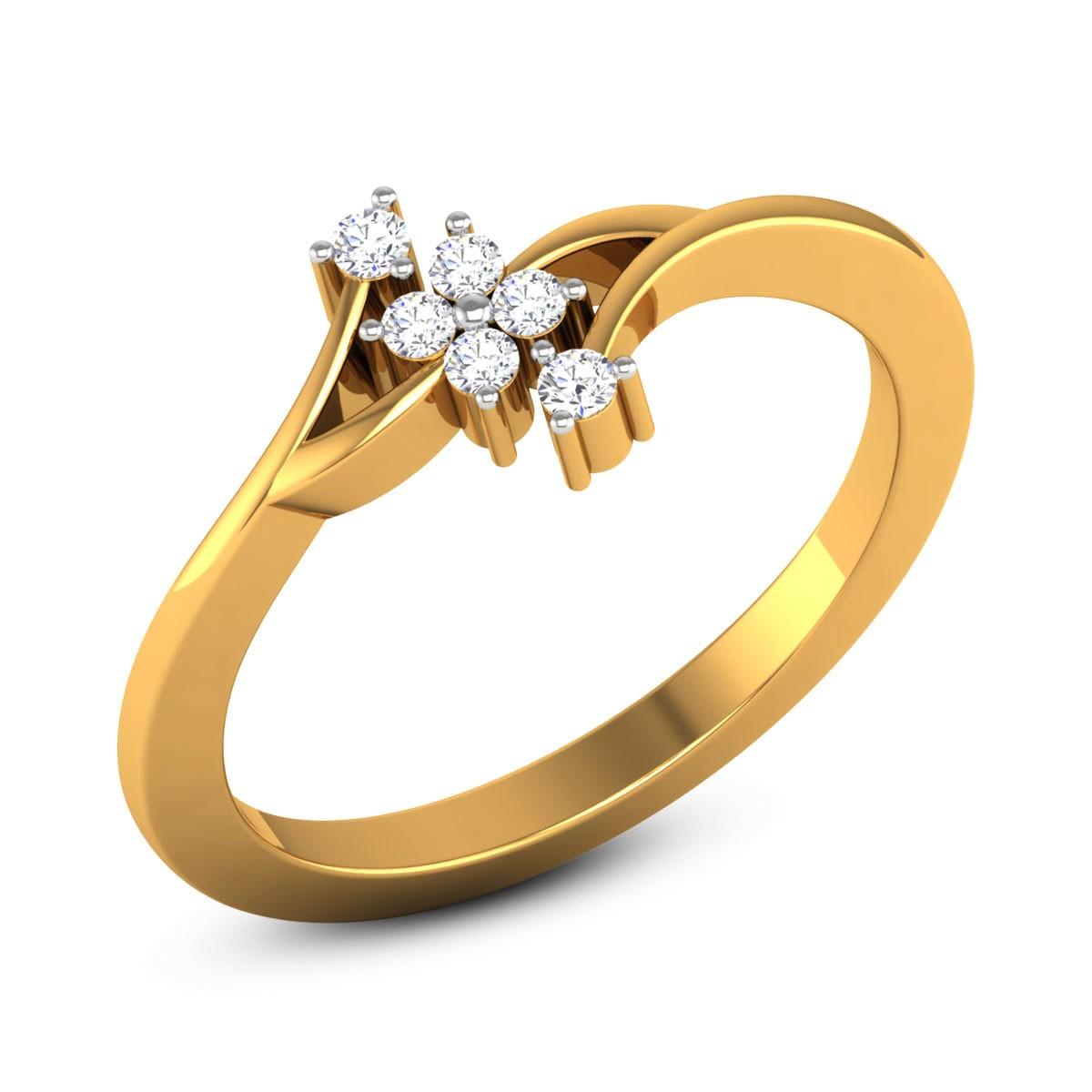 Anshula Diamond Floral Ring